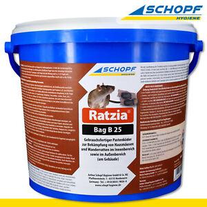 Schopf Hygiene 3kg Ratzia Bag B 25 Pastenköder Gift Mäuse Ratten Garage Keller