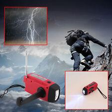 Solar Dynamo Powered Radio Hand Crank AM/FM 3 LED Flashlight Phone Charger YK