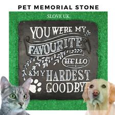 Pet Memorial Plaque Garden Stepping Stone Cat Dog Paw Print - Grave Head Marker