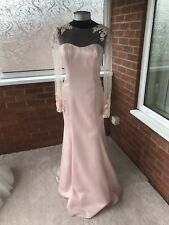 RONALD JOYCE WEDDING DRESS PINK SIZE UK 14 (ONE ONLY)