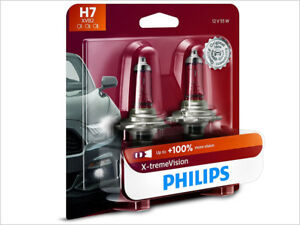 2x NEW PHILIPS X-TREME VISION 100% H7 12972XVB2 HEADLIGHT DRIVING LIGHT BULBS