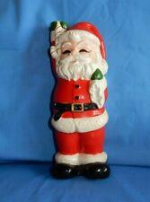 "Vintage Japan Christmas Santa Claus 9"" Tall Taper Candle Holder Rare"