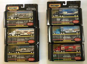 6 - Matchbox Convoy Millennium Rigs Automobile Motorcycle Ships Railroad NEW SET