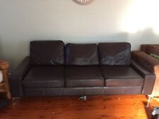 Leather Sofa Bed Couch, Brown