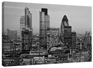 Canvas Print London City Skyline Gherkin Tower Sunset Wall Art Print