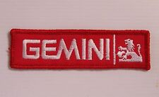 VINTAGE HOLDEN GEMINI EMBROIDERED PATCH WOVEN CLOTH BADGE SEW-ON MOTOR RACING