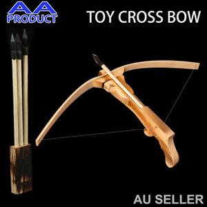 Toy Bow and Arrow Wood Bamboo Toy Gun Archery Crossbow Outdoor for Kid  Cosplay