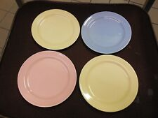 Vintage LuRay pastels, Set of 4, 6 1/2 dessert plates