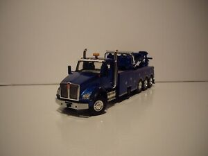 FIRST GEAR 1/50 BLUE TRI-AXLE KENWORTH T880 WITH CENTURY 1060 ROTATOR WRECKER