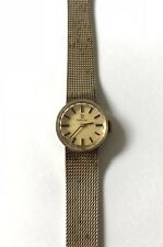 OMEGA SWISS MADE 10k GOLD FILLED WOMENS MANUAL WINDING WATCH