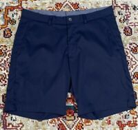 """BROOKS BROTHERS BLUE STRETCH PERFORMANCE CHINO SHORTS INSEAM 9"""" SIZE 36 A11"""