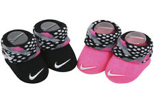 Nike Infant Girl's 2-Pair Black Relativity Contrast Cuff Booties Set Sz: 0-6 M