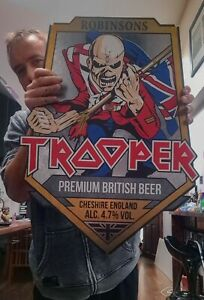 Iron Maiden Trooper Beer HUGE SIGN Not Pump Clip Bottle MASSIVE Wall Hanging Bar