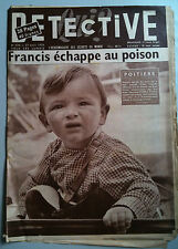 DETECTIVE 27/08/1956 Tueur de la Lune d'Aout/ Marcinelle/ Médecin Forain/
