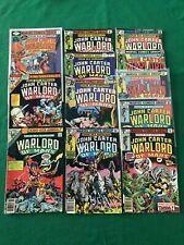 JOHN CARTER WARLORD OF MARS Lot of 12 Vintage 1970s Bronze Age Marvel Comics
