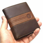 New Men's Leather Wallet Credit Card Purse Vintage Retro Style Blue Mount5306A