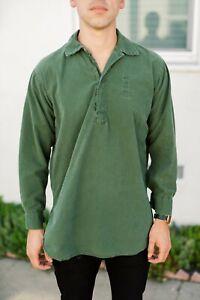 Vintage Military Pull Over Shirt GRUNGE INDIE Sm/Med