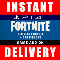 Fortnite Neo Versa Bundle Skin Code + 500 V Bucks PS4 US - Instant Dispatch 24/7