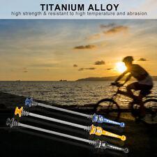 2Pcs/Set Titanium Bicycle Road Bike Quick Release Skewers Ti Axles Front Rear QR