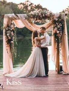 "Wedding Arch Fabric Drape Moss Crepe Fabric Photography Baby Shower Backdrop 44"""