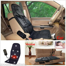 Universal 2In1 Auto Massage+Heating Seat Cushion Cover Warmer used Car and home