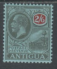 ANTIGUA 1921 KGV BADGE 2/6 WMK MULTI SCRIPT CA