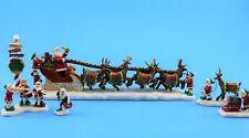 Thomas Kinkade Santa'S Sleigh Bradford Exchange North Pole Village New (Aa)