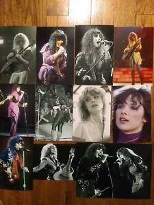 HEART Ann Nancy Wilson 12 Rare 1978 DOG & BUTTERFLY 70s Glossy PHOTOS PRINTS 4x6