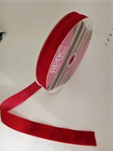 2 metres of  red velvet christmas ribbon 1cm wide
