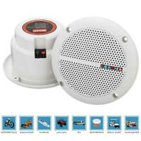 1 paire de haut-parleurs impermeable a l'eau de 25W gamme complete pour bateau m