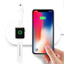 10W 2in1 Qi Wireless Charger Pad Charging Station For Apple Watch iPhone X 8/8Pl