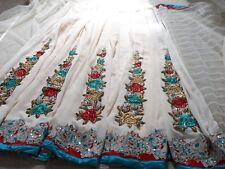 Asian Pakistani Indian Bridal Wedding  designer embroidered crystal saree