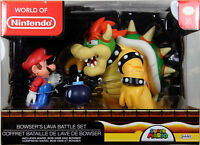 World of Nintendo ~ BOWSER'S LAVA BATTLE SET ~ Mario, Bob-omb & Bowser - Jakks