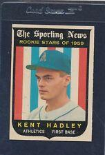 1959 Topps #127 Kent Hadley Athletics EX 59T127-42715-2