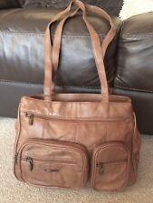 Brown Handbag Vintage 70's look Faux Leather  Shoulder Satchel Bag