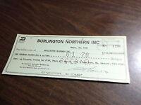 MAY 1970 BURLINGTON NORTHERN RAILROAD COMPANY CHECK
