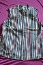 ladies new with tags vest by BIB pink/black/white stripes size 18