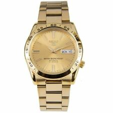 Seiko 5 SNKE06 Automatic Day-Date Gold Dial Stainless Steel Men's Watch SNKE06K1
