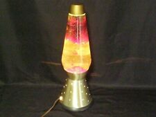 VINTAGE MID-CENTURY modern 1970s RED LAVA LAMP WITH STARLITE BASE mcm