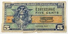 1954+ US MPC Military Payment Certificate 521 5 Cents Currency Note HMP10732168