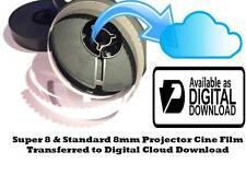 SOUND Super 8mm Cine Film To File DOWNLOAD TRANSFER SERVICE Frame by Frame Scan