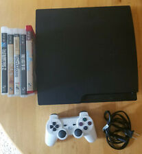 Sony PlayStation 3 Slim 160GB Charcoal Black Console (CECH-2500A) + games