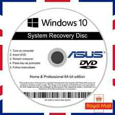 Asus Windows 10 Home & Professional Recovery Repair Install Boot Disc Software