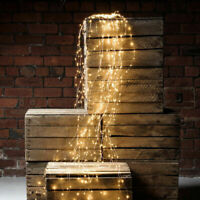 Outdoor LED Solar Lights Waterfall String Fairy Icicle Lights Party Garden Decor
