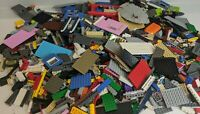 Bulk LEGO LOT 2 pound of Bricks, parts, Pieces Tires accessories +3 minifigures