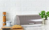 MODERN Bread Bin FOOD STORAGE BOX Loaf Roll Large KITCHEN XANDER TAUPE !!!