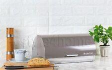 MODERN Bread Bin FOOD STORAGE BOX Loaf Roll Large KITCHEN XANDER TAUPE !!!