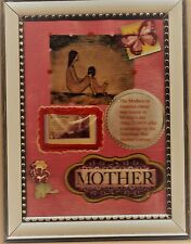 Mother Tribute-Framed Art-Whistler's Mother 3 cent stamp-Collectible-Free Ship
