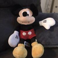 "Disney Store Mickey Mouse Plush Doll 19"" Classic Mickey Stuffed Animal"
