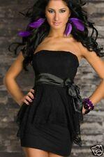sexy vestito con fascia vestitino abito donna abito da sera NERO TGL M 4111 1